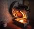 """Réalisation d'une """"perle"""" de céramique, pour analyse par Fluorescence X (© C. Batigne Vallet)"""